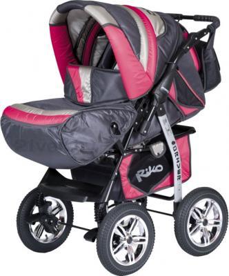 Детская универсальная коляска Riko Driver (Magenta) - общий вид