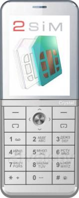 Мобильный телефон Explay Crystal (серебристый) - общий вид