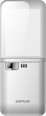 Мобильный телефон Explay Crystal (серебристый) - задняя панель