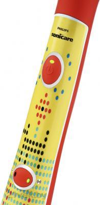 Звуковая зубная щетка Philips Sonicare For Kids HX6311/02 - кнопка включения/выключения