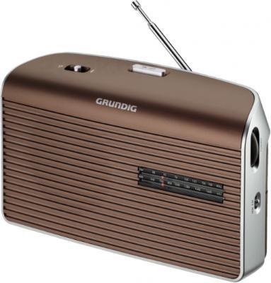 Радиоприемник Grundig Music 60 (коричнево-серебристый) - вид сбоку