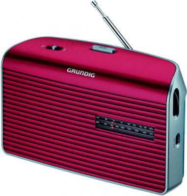 Радиоприемник Grundig Music 60 (красно-серебристый) - вид сбоку