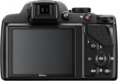 Компактный фотоаппарат Nikon Coolpix P530 (черный) - вид сзади