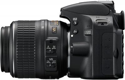 Зеркальный фотоаппарат Nikon D3200 Kit 18-55mm VR II (черный) - общий вид