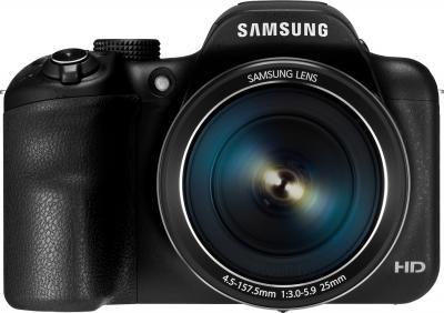 Компактный фотоаппарат Samsung WB1100 (Black) - вид спереди