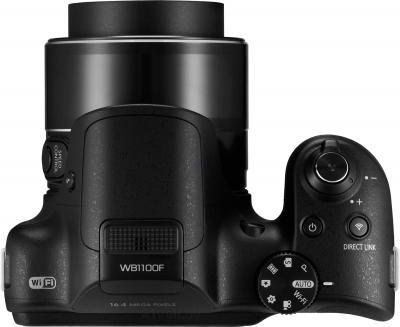 Компактный фотоаппарат Samsung WB1100 (Black) - вид сверху