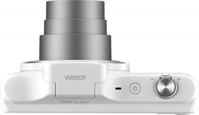 Компактный фотоаппарат Samsung WB50F (White) - вид сверху