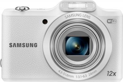 Компактный фотоаппарат Samsung WB50F (White) - вид спереди