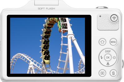 Компактный фотоаппарат Samsung WB50F (White) - вид сзади