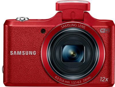 Компактный фотоаппарат Samsung WB50F (Red) - вид спереди