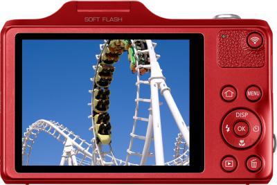 Компактный фотоаппарат Samsung WB50F (Red) - вид сзади