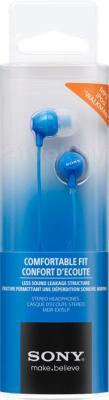 Наушники-гарнитура Sony MDR-EX15APLI (синий) - упаковка