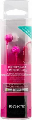 Наушники-гарнитура Sony MDR-EX15APPI (розовый) - упаковка