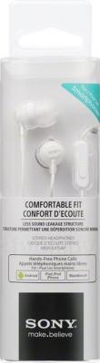 Наушники-гарнитура Sony MDR-EX15APW (белый) - упаковка
