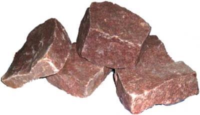 Камень Чевжавара Малиновый кварцит колотый - общий вид