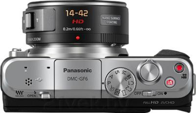 Беззеркальный фотоаппарат Panasonic Lumix DMC-GF6XEE-K - вид сверху