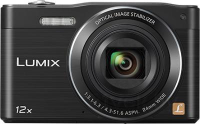 Компактный фотоаппарат Panasonic Lumix DMC-SZ8EE-K - вид спереди