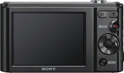 Компактный фотоаппарат Sony Cyber-shot DSC-W800 (черный) - вид сзади