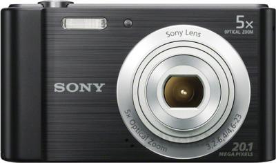 Компактный фотоаппарат Sony Cyber-shot DSC-W800 (черный) - вид спереди