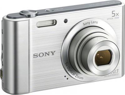 Компактный фотоаппарат Sony Cyber-shot DSC-W800 (серебристый) - общий вид