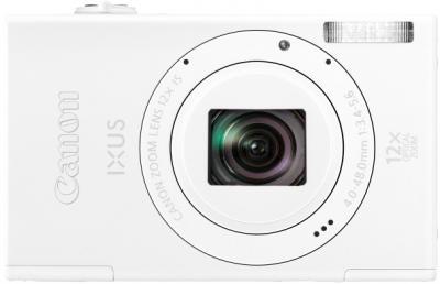 Компактный фотоаппарат Canon IXUS 510 HS (White) - вид спереди