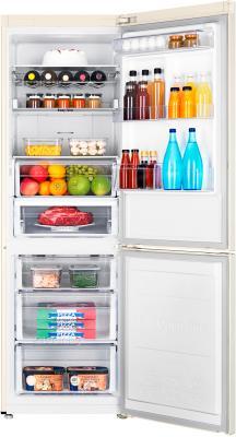 Холодильник с морозильником Samsung RB31FERNCEF/RS - пример заполненного холодильника
