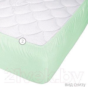 Наматрасник Vegas Protect Cotton S1 120х200 (фисташковый) - вид снизу