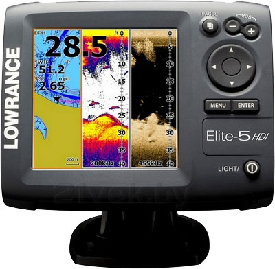 Эхолот-картплоттер Lowrance Elite 5 HDI - вид спереди