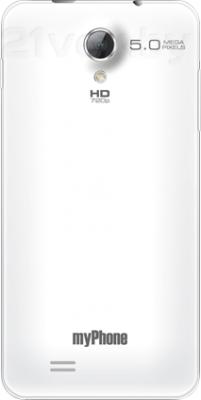 Смартфон MyPhone Next-S - задняя панель белого цвета
