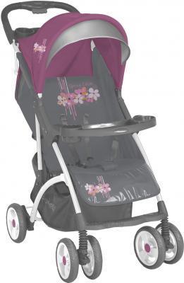 Детская прогулочная коляска Lorelli Smarty (Gray-Pink Spring) - общий вид