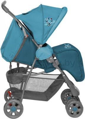 Детская прогулочная коляска Lorelli Star (Beige Graffes) - наклон спинки (цвет Blue Captain)