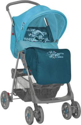 Детская прогулочная коляска Lorelli Star (Beige-Terracotta) - наклон спинки (цвет Blue Captain)