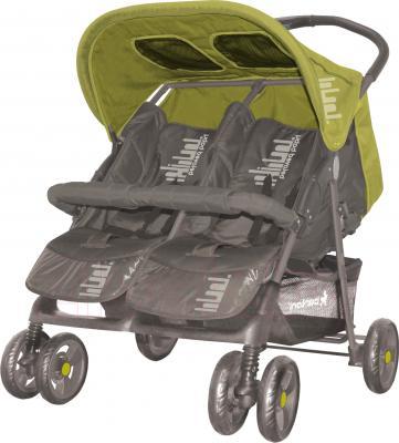 Детская прогулочная коляска Lorelli Twin (Apple Green) - общий вид