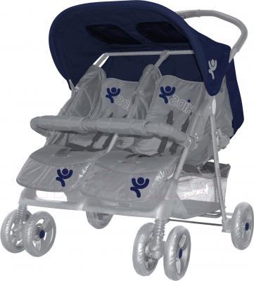 Детская прогулочная коляска Lorelli Twin (Blue-Gray) - общий вид
