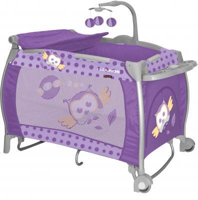 Кровать-манеж Lorelli I'Lounge Rocker (Violet Baby Owl) - общий вид