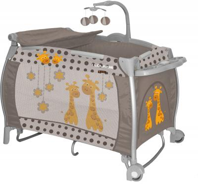 Кровать-манеж Lorelli I'Lounge Rocker (Beige Giraffes) - общий вид