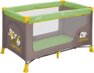 Кровать-манеж Lorelli Nanny 1 (Green Beige Puppies) - общий вид