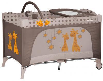 Кровать-манеж Lorelli Travel Kid 2 (Beige Giraffes) - общий вид