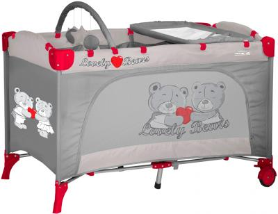 Кровать-манеж Lorelli Travel Kid 2 (Gray Bears) - общий вид