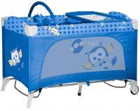 Кровать-манеж Lorelli Travel Kid 2 Rocker Blue Baby Owl (10080231418) -