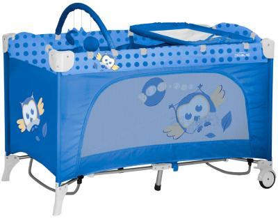 Кровать-манеж Lorelli Travel Kid 2 Rocker Blue Baby Owl (10080231418) - общий вид