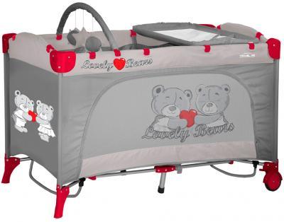 Кровать-манеж Lorelli Travel Kid 2 (Rocker Gray Bears) - общий вид
