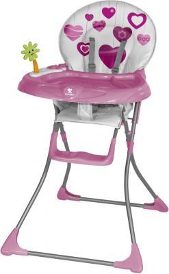 Стульчик для кормления Lorelli Jolly (Pink Hearts) - общий вид