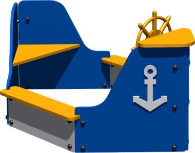 Песочница Romana Лодка 111.04.00 - общий вид