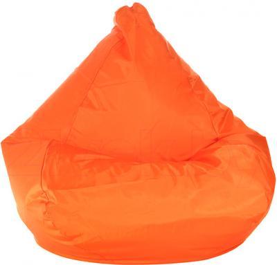 Бескаркасное кресло Baggy Груша Мега (оранжевое флюорисцентное) - общий вид