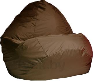 Бескаркасное кресло Baggy Груша Мега (коричневое) - общий вид