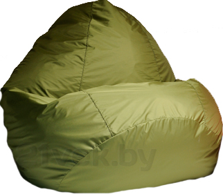 Бескаркасное кресло Baggy Груша Мега (зеленое) - общий вид