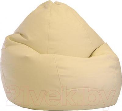 Бескаркасное кресло Baggy Груша Мега (бежевое) - общий вид