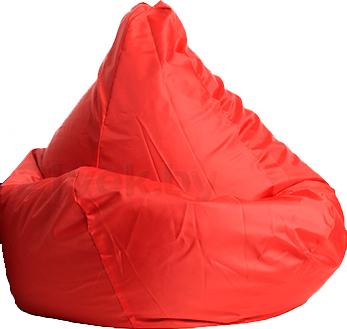Бескаркасное кресло Baggy Груша Мега (красное) - общий вид