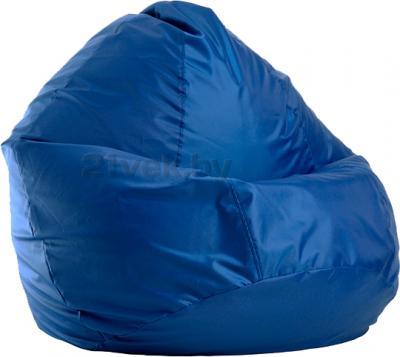 Бескаркасное кресло Baggy Груша Мега (темно-синее) - общий вид